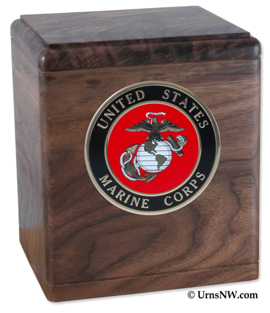 Freedom Military Urn in Walnut Wood