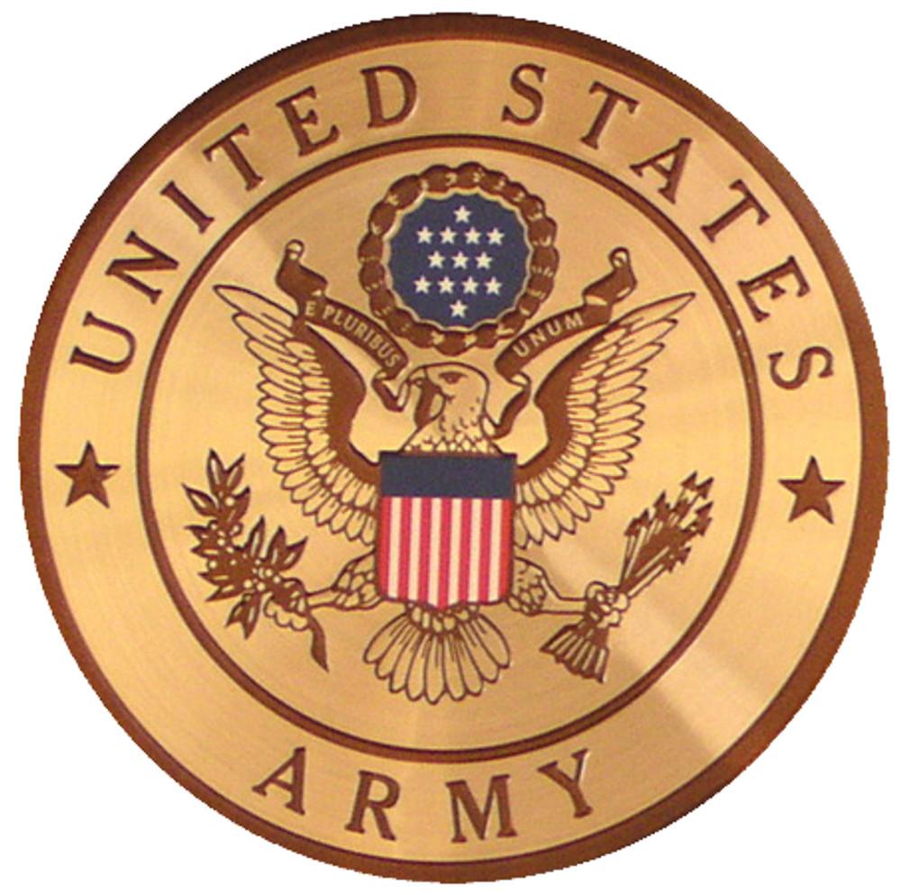 Urn Medallion: Army