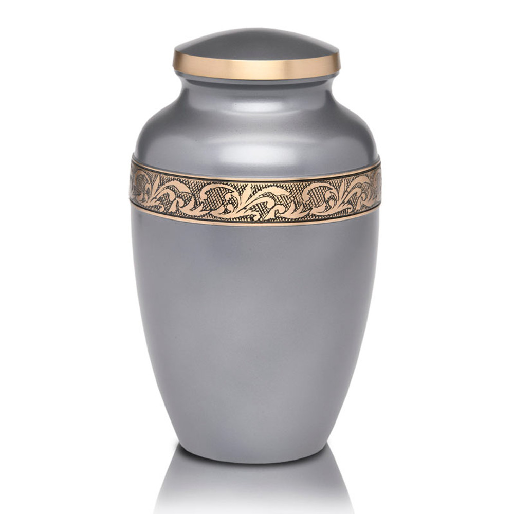 Gunmetal Gray Brass Urn