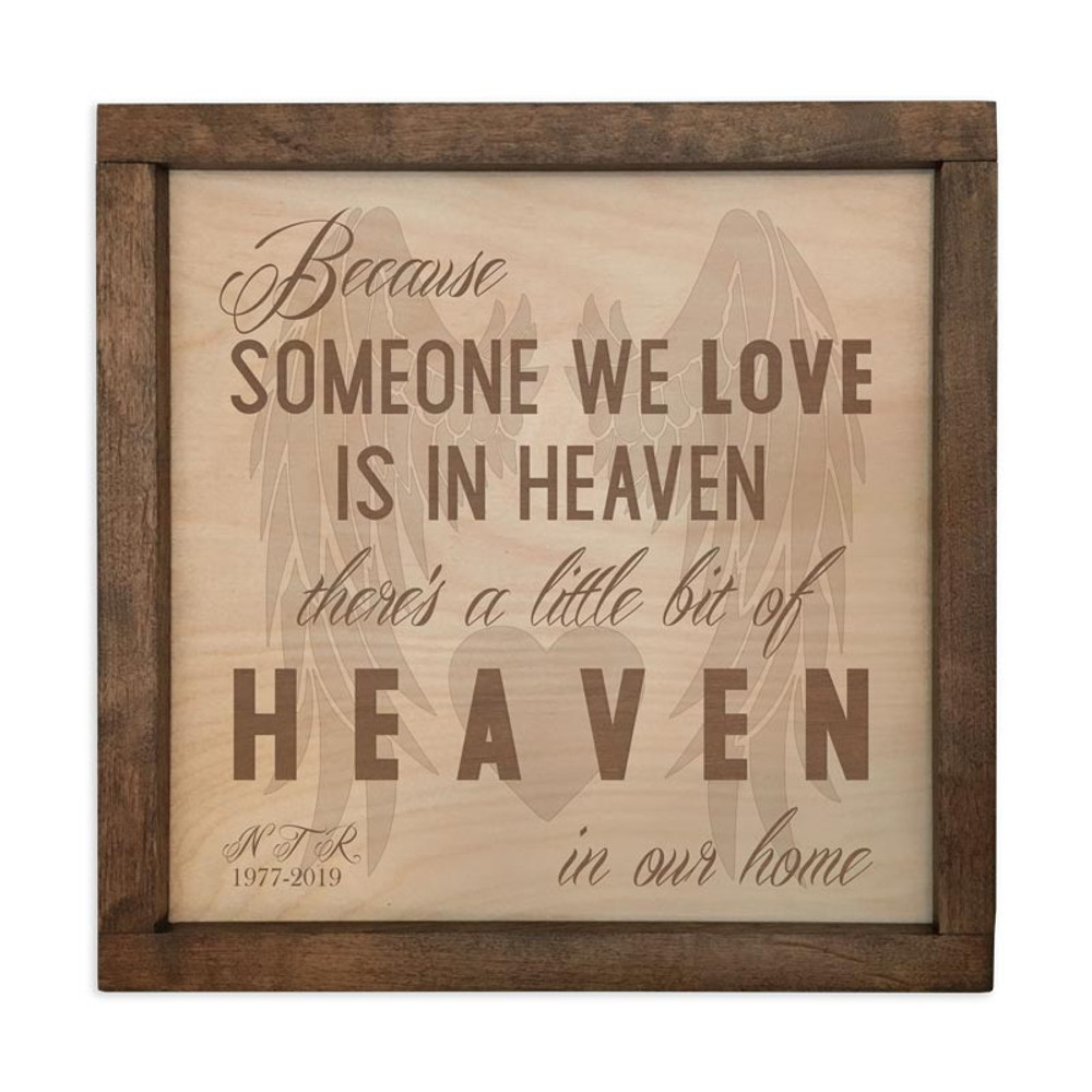 Someone we love is in heaven - memorial plaque cremation urn