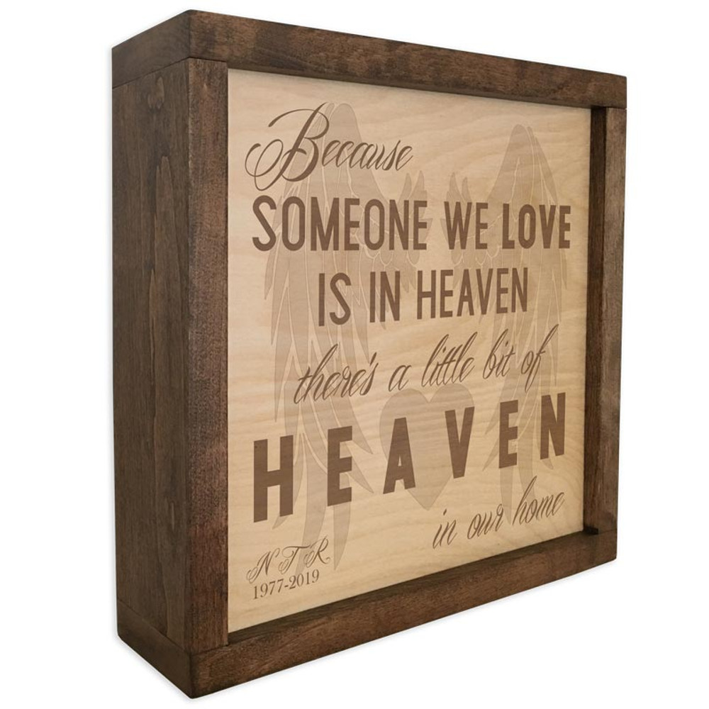 Angel Wings Cremation Urn Memorial Plaque