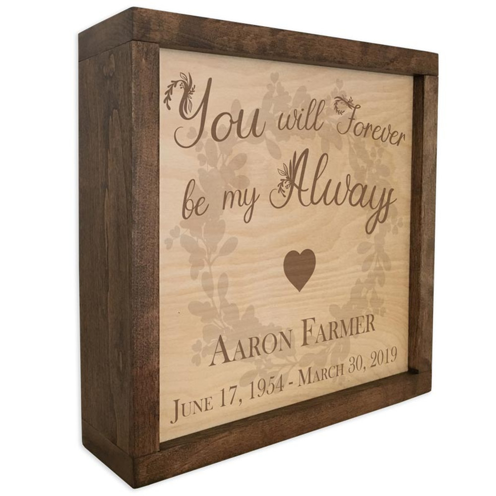 Memorial Quote Plaque Cremation Urn with Heart and Wreath