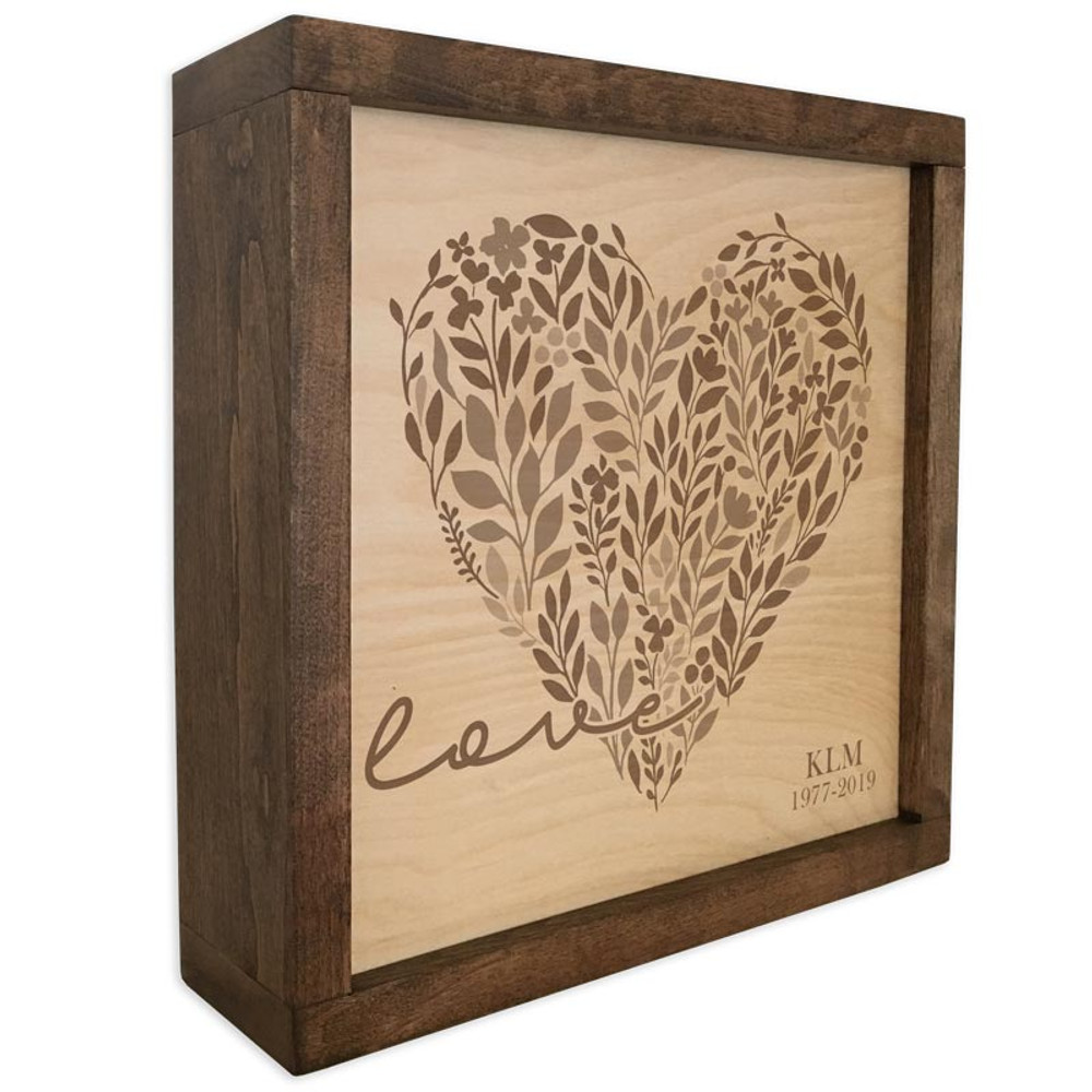 Loving Heart Memorial Plaque & Cremation Urn