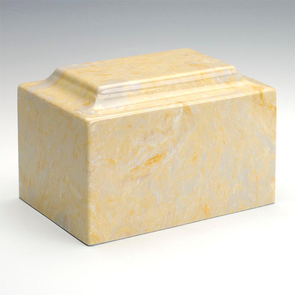 Classic Cultured Marble Urn in Gold