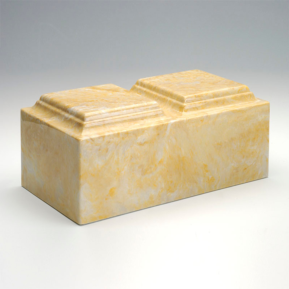 Classic Companion Cultured Marble Urn in Gold