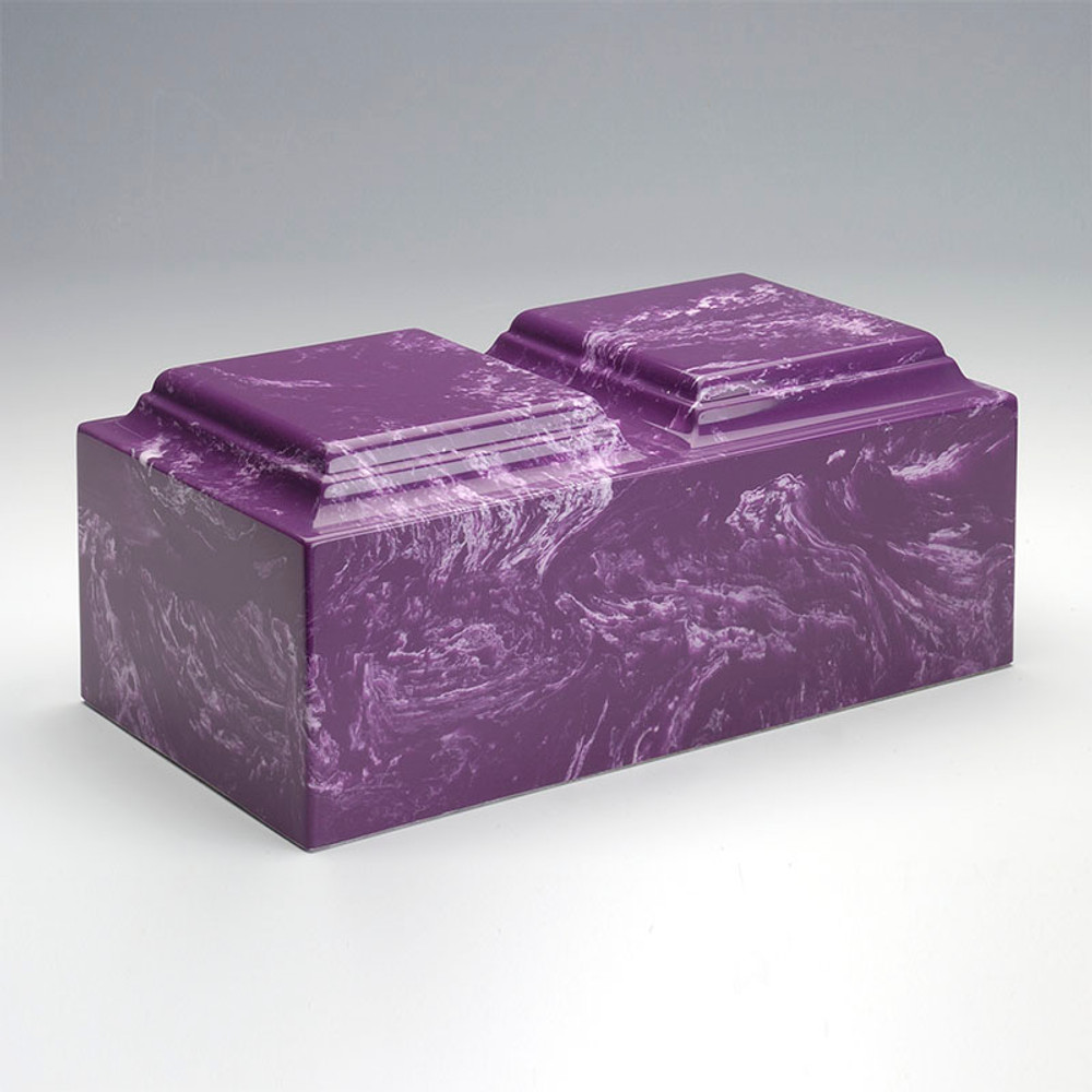 Classic Companion Cultured Marble Urn in Amethyst