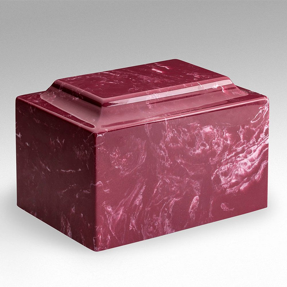 Classic Cultured Marble Urn in Berry