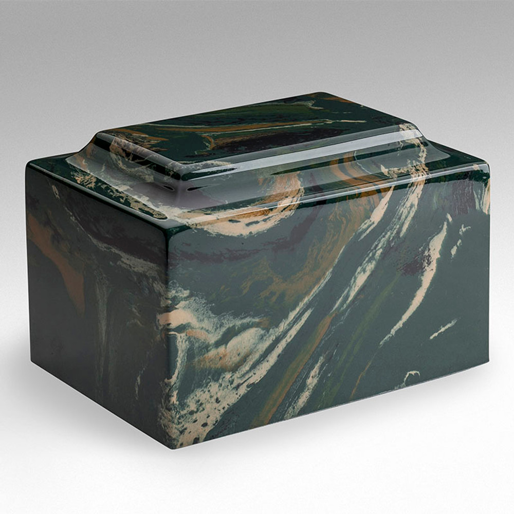 Classic Cultured Marble Urn in Camo