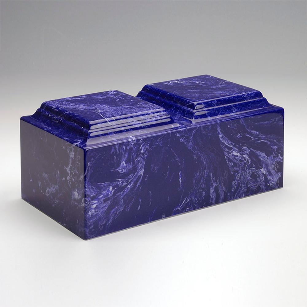 Classic Companion Cultured Marble Urn in Cobalt