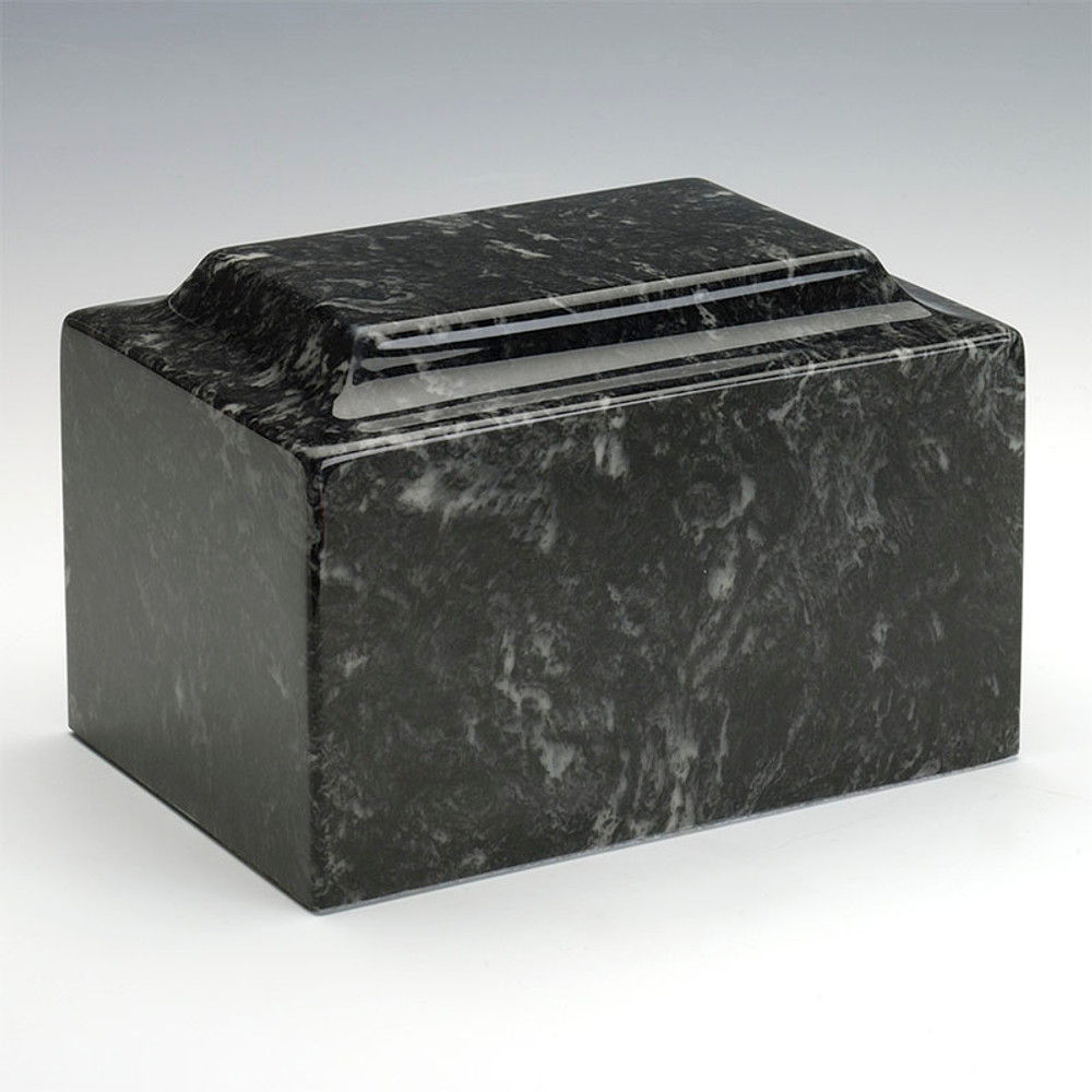 Classic Cultured Marble Urn in Ebony