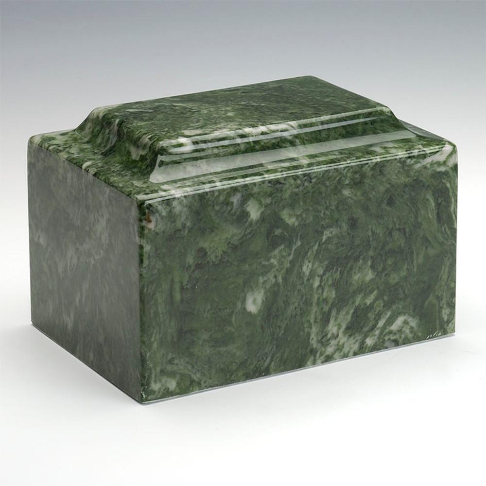 Classic Cultured Marble Urn in Emerald