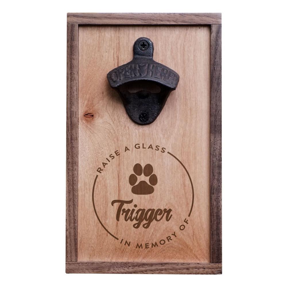 Custom Paw Print Pet Memorial Bottle Opener