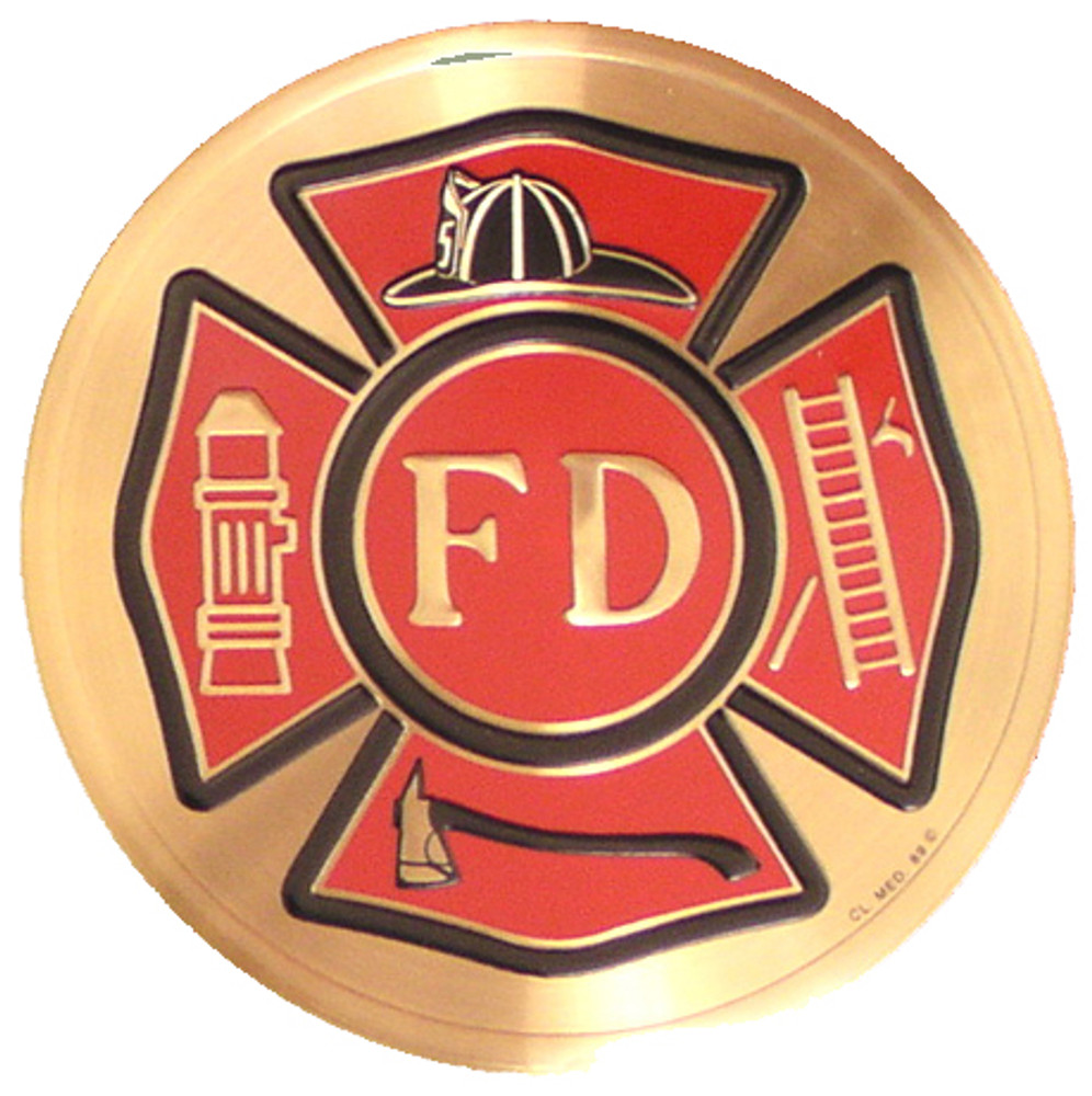 Fire Department Medallion for Military Urn