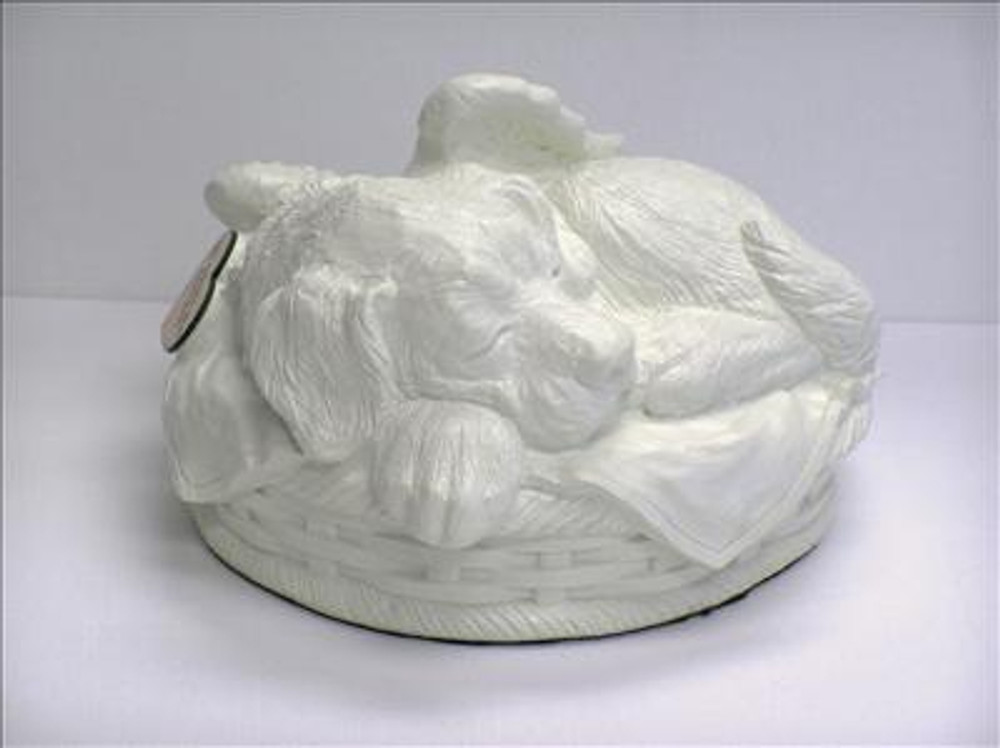 Dog Cremation Urn - White Porcelain