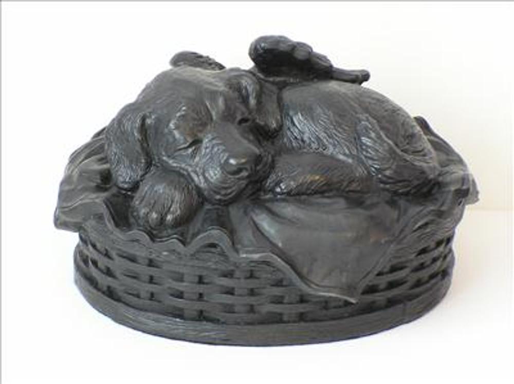 Dog Cremation Urn - Black