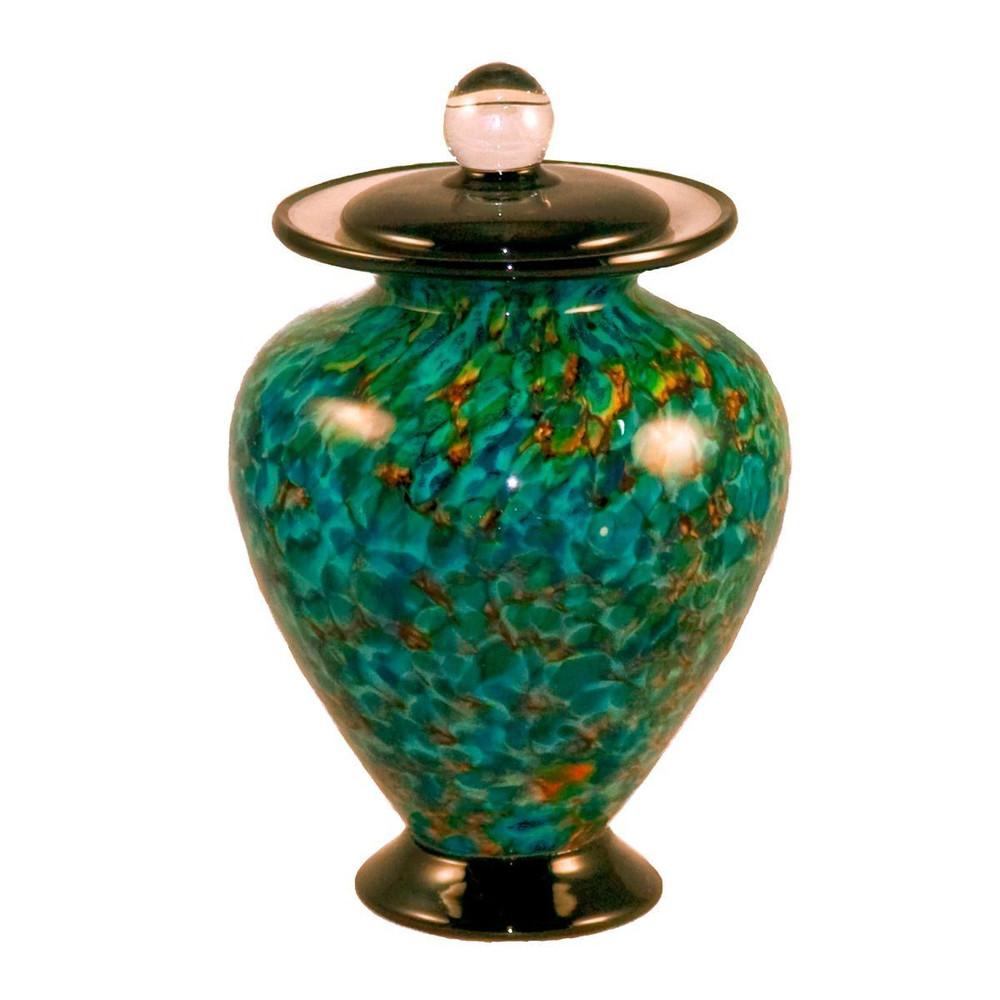 Small Amato Hand Blown Glass Urn - Aegean