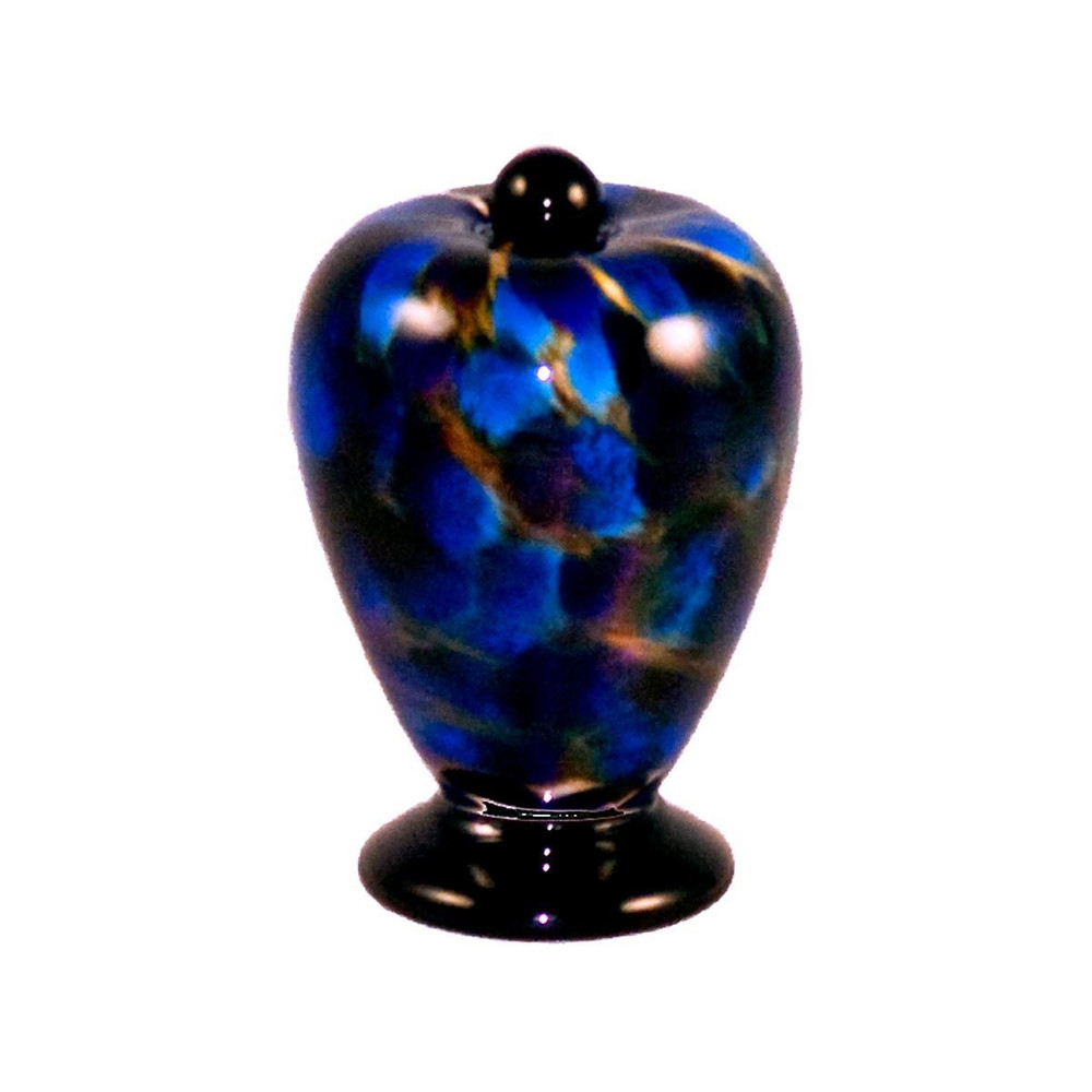 Deco Hand Blown Glass Keepsake Urn - Evening