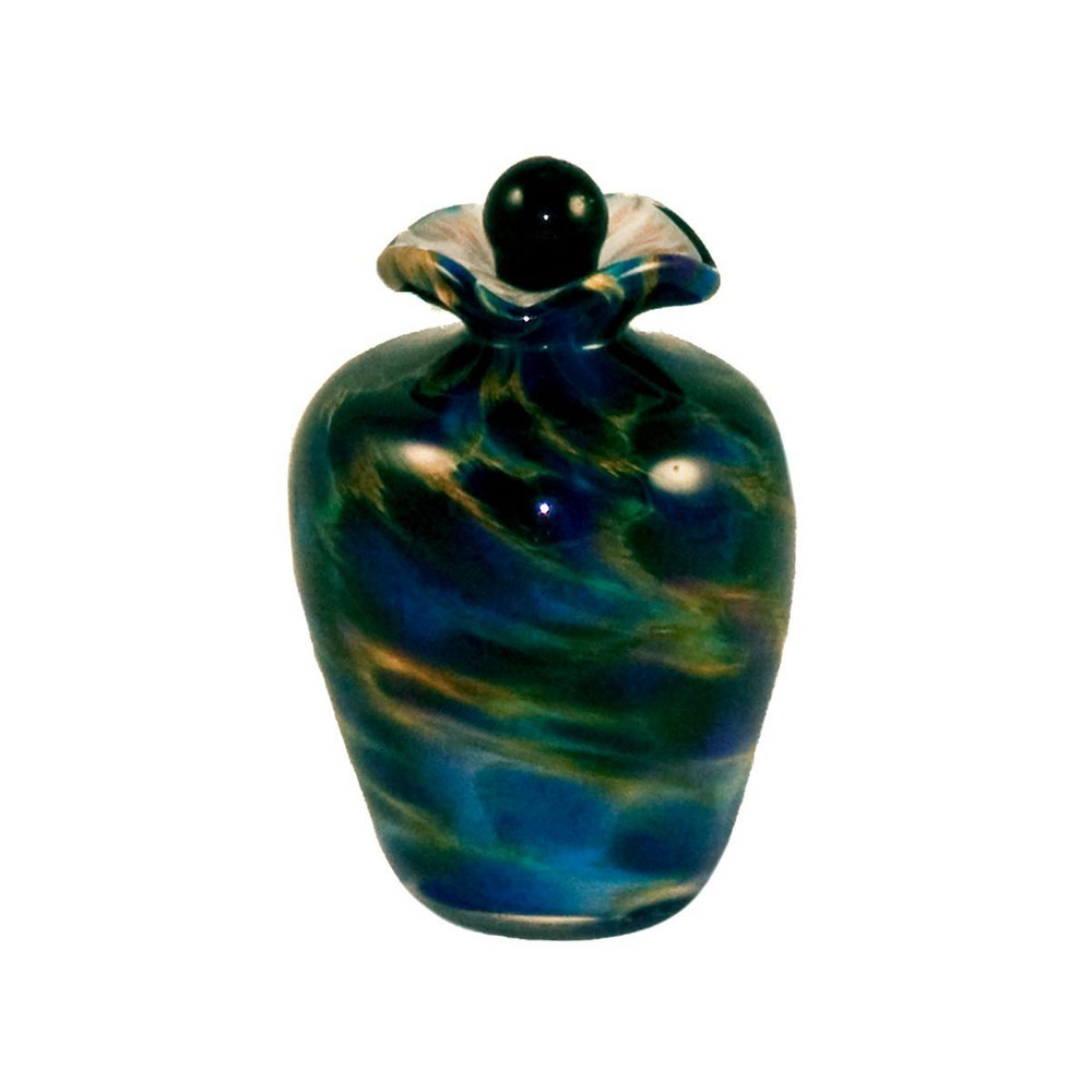 Bella Hand Blown Glass Keepsake Urn - Evening