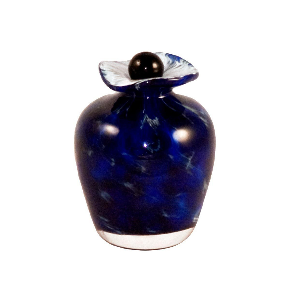 Bella Hand Blown Glass Keepsake Urn - Water
