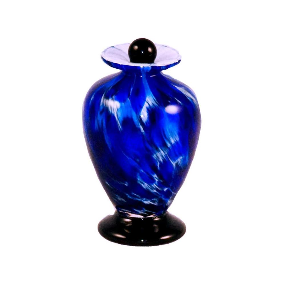 Amato Hand Blown Glass Keepsake Urn - Water