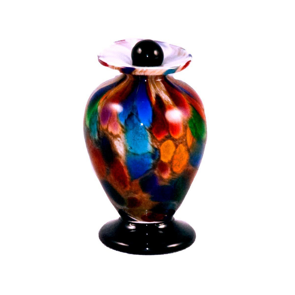 Amato Hand Blown Glass Keepsake Urn - Autumn