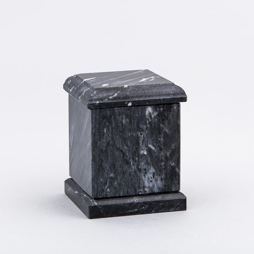 Evermore Square Marble Keepsake Urn in Black