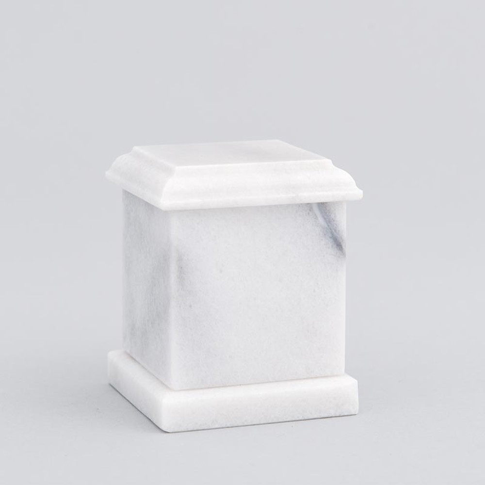 Evermore Square Marble Keepsake Urn in White