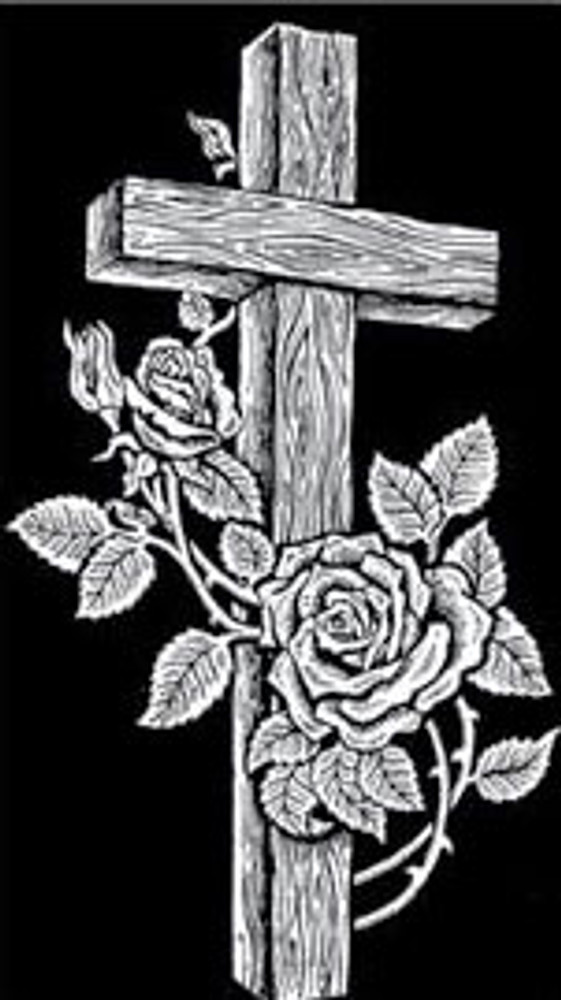 Urn Artwork | Cross with Roses