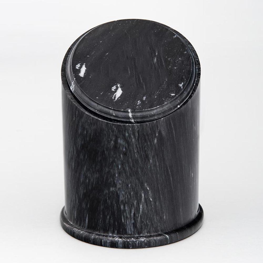 Crown Natural Marble Cremation Urn in Black