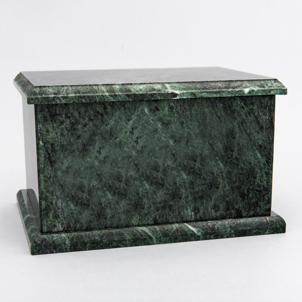 Evermore Rectangle Marble Cremation Urn in Green