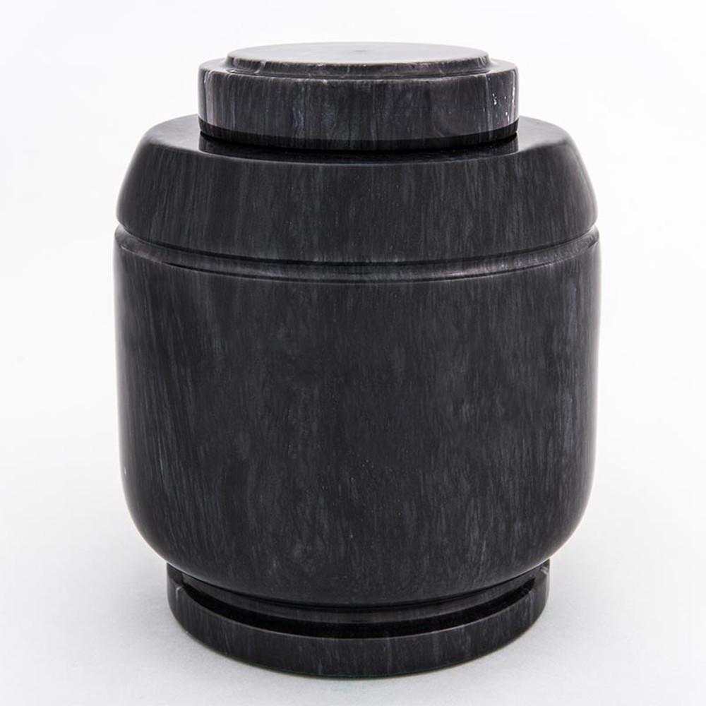 Crest Marble Cremation Urn in Black