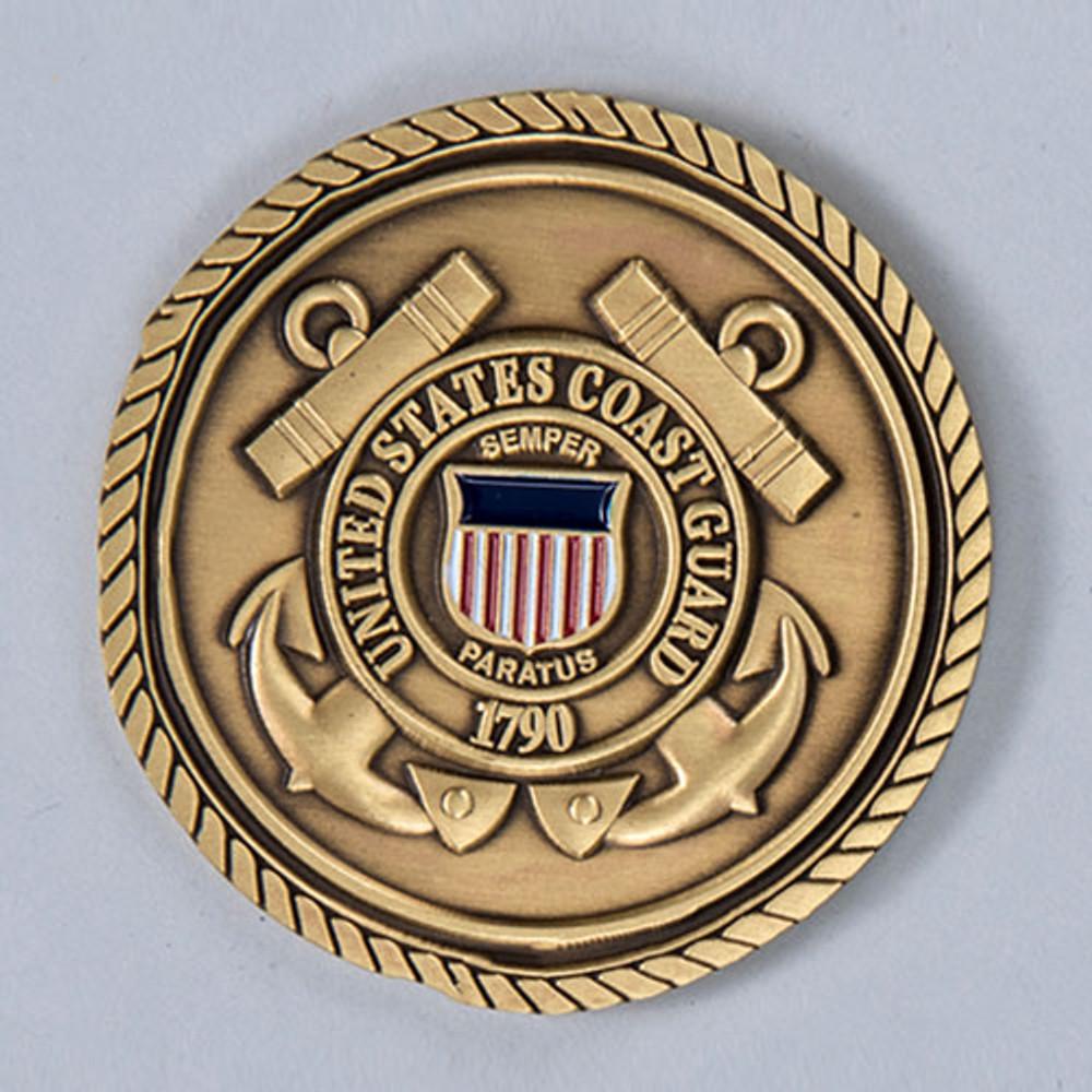 Military Cremation Urn Emblem - Coast Guard