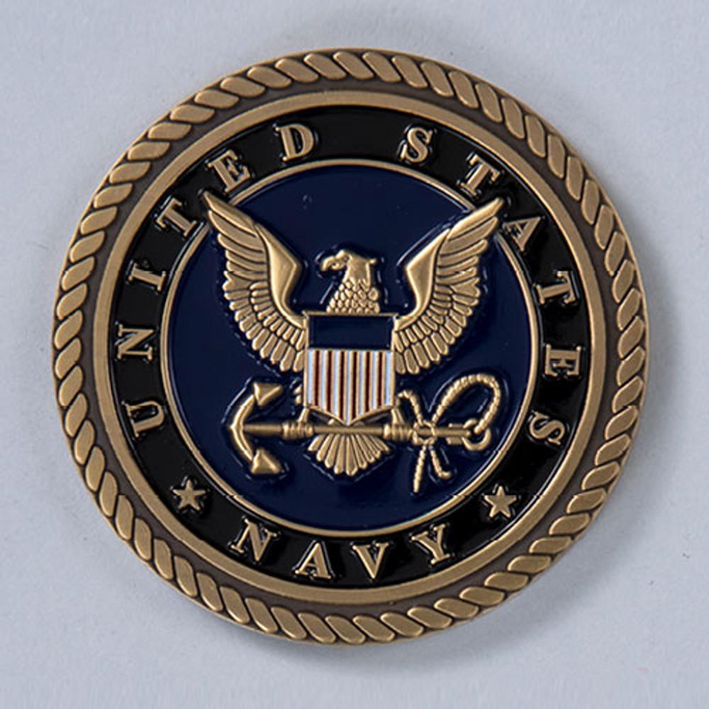 Military Cremation Urn Emblem - Navy