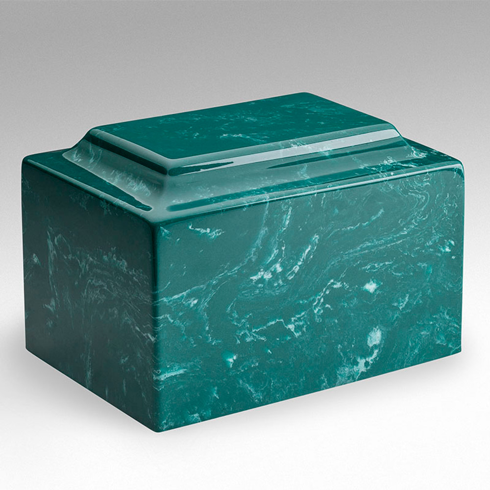 Classic Cultured Marble Urn in Jade