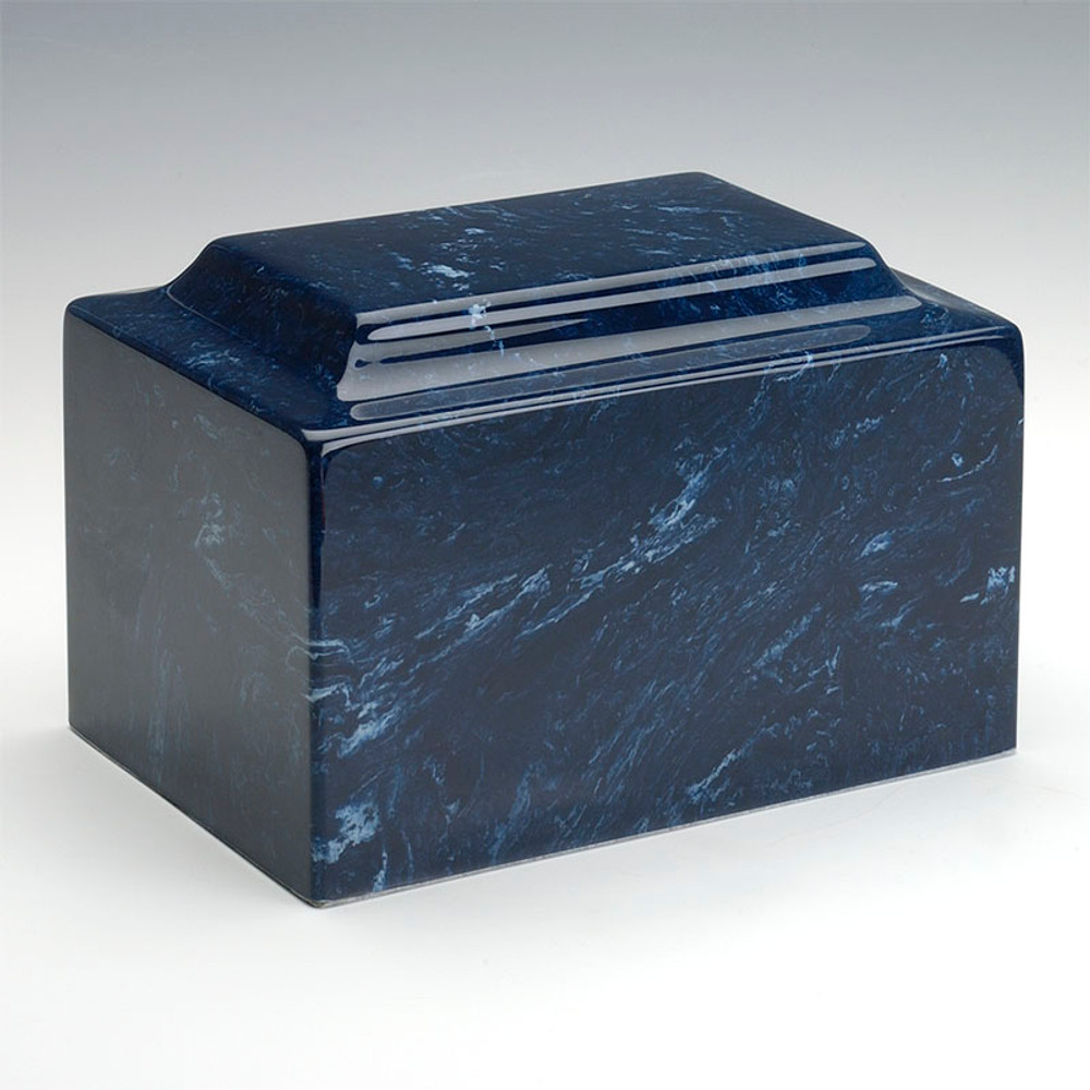 Classic Cultured Marble Urn in Navy