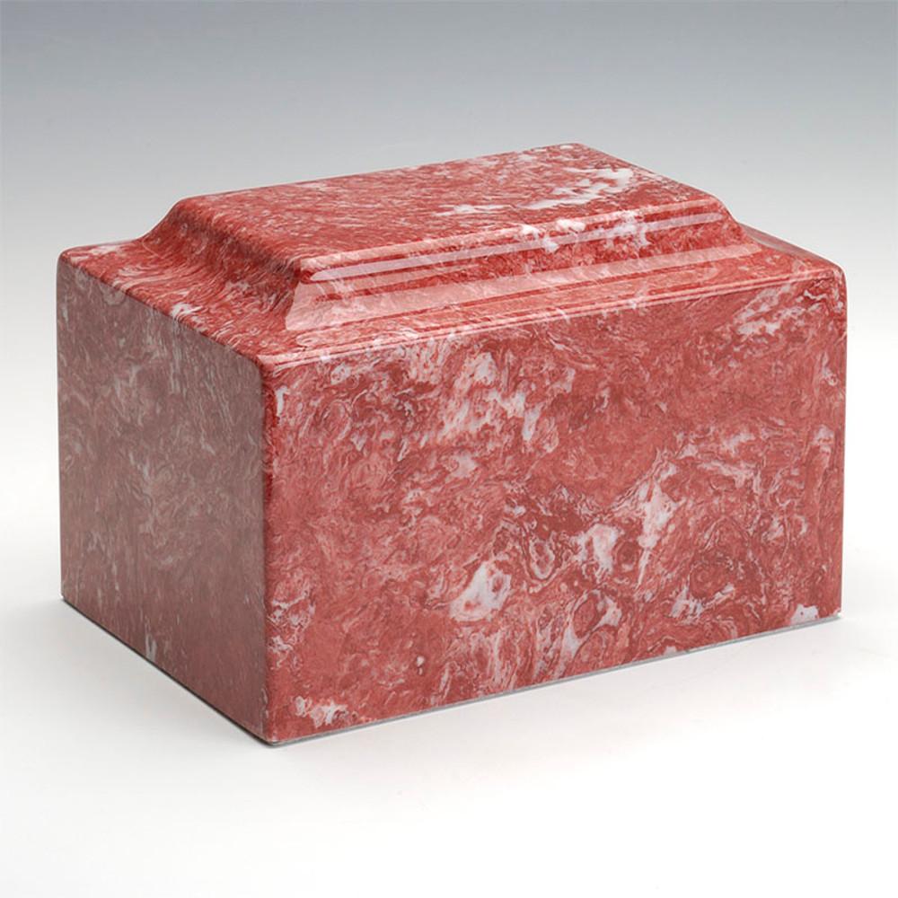 Classic Cultured Marble Urn in Rose