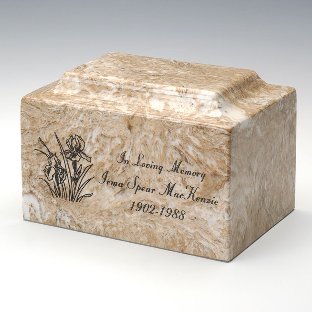 Classic Cultured Marble Urn with Personalization