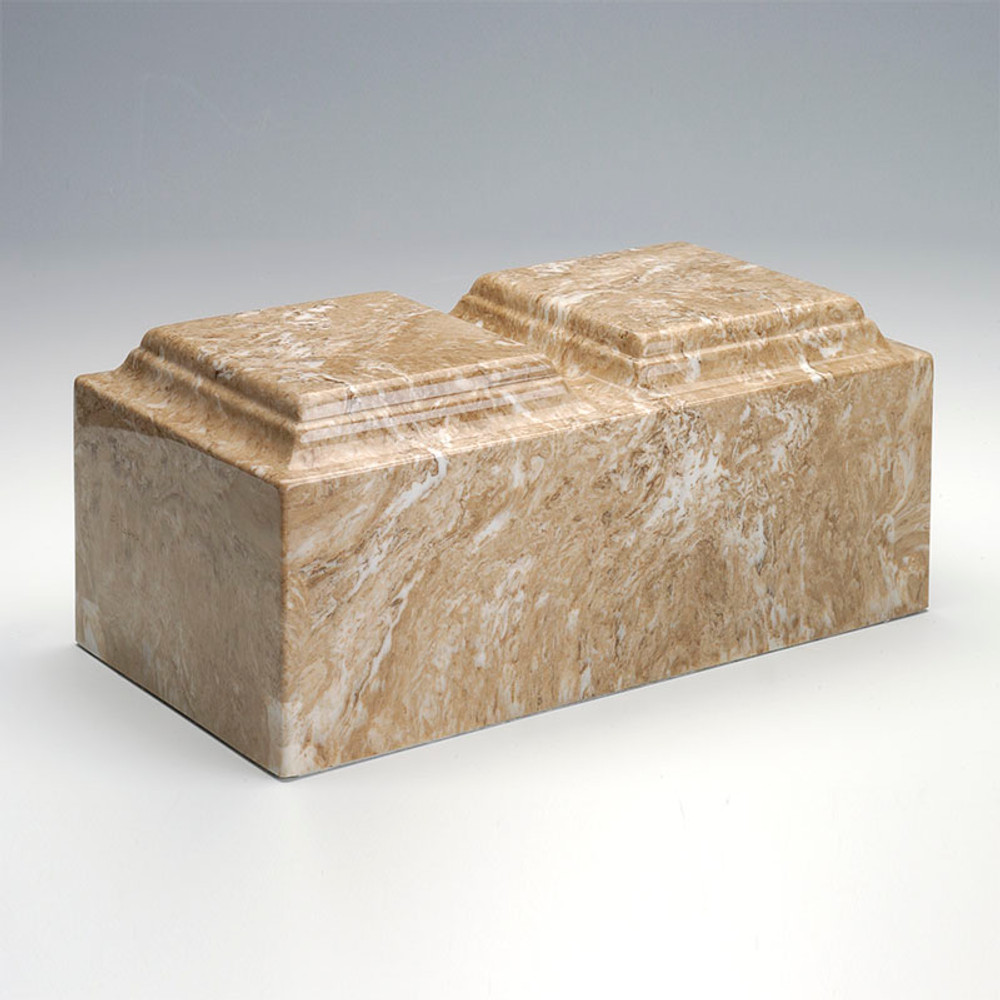Classic Cultured Marble Companion Urn in Syrocco