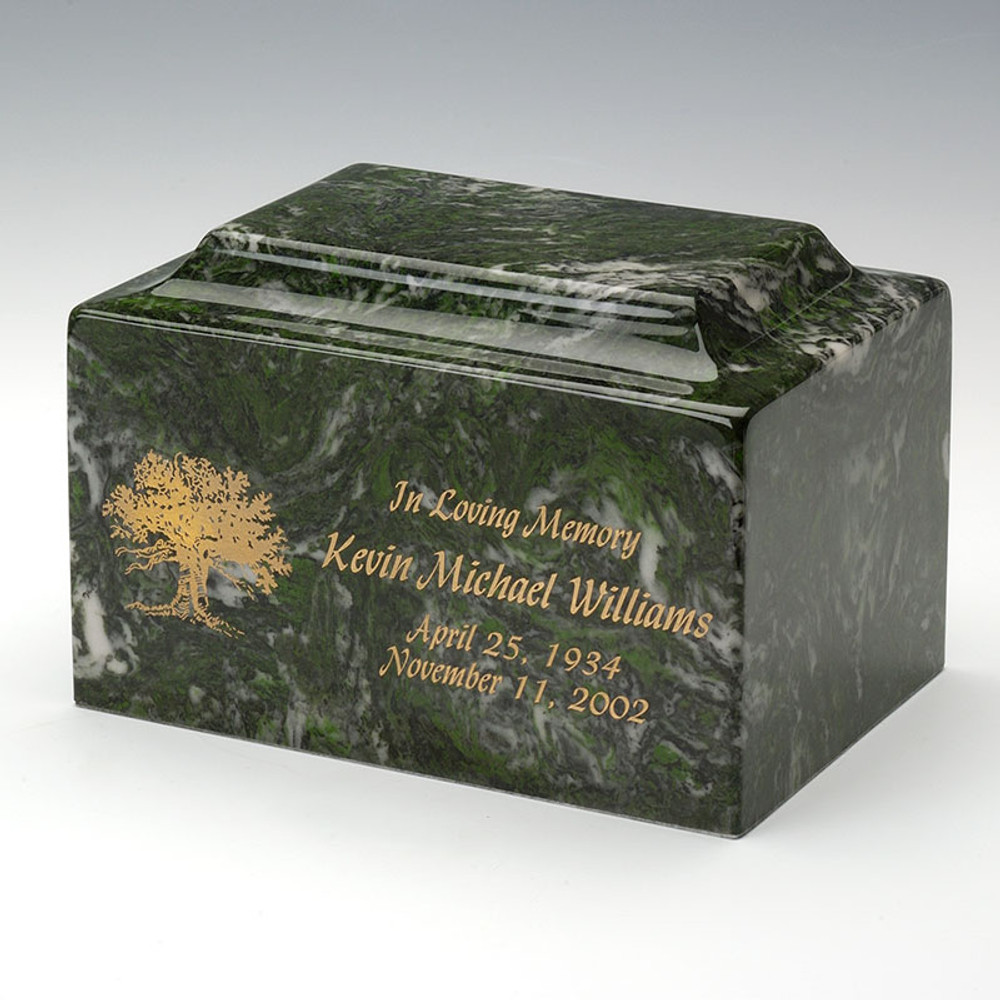 Classic Cultured Marble Urn - Personalized