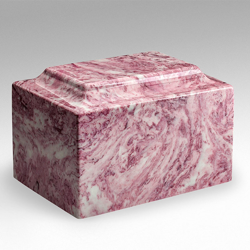 Classic Cultured Marble Urn - Wild Rose
