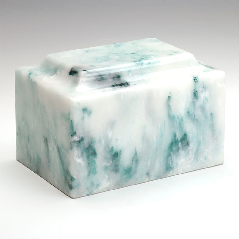 Classic Cultured Onyx Cremation Urn in Teal