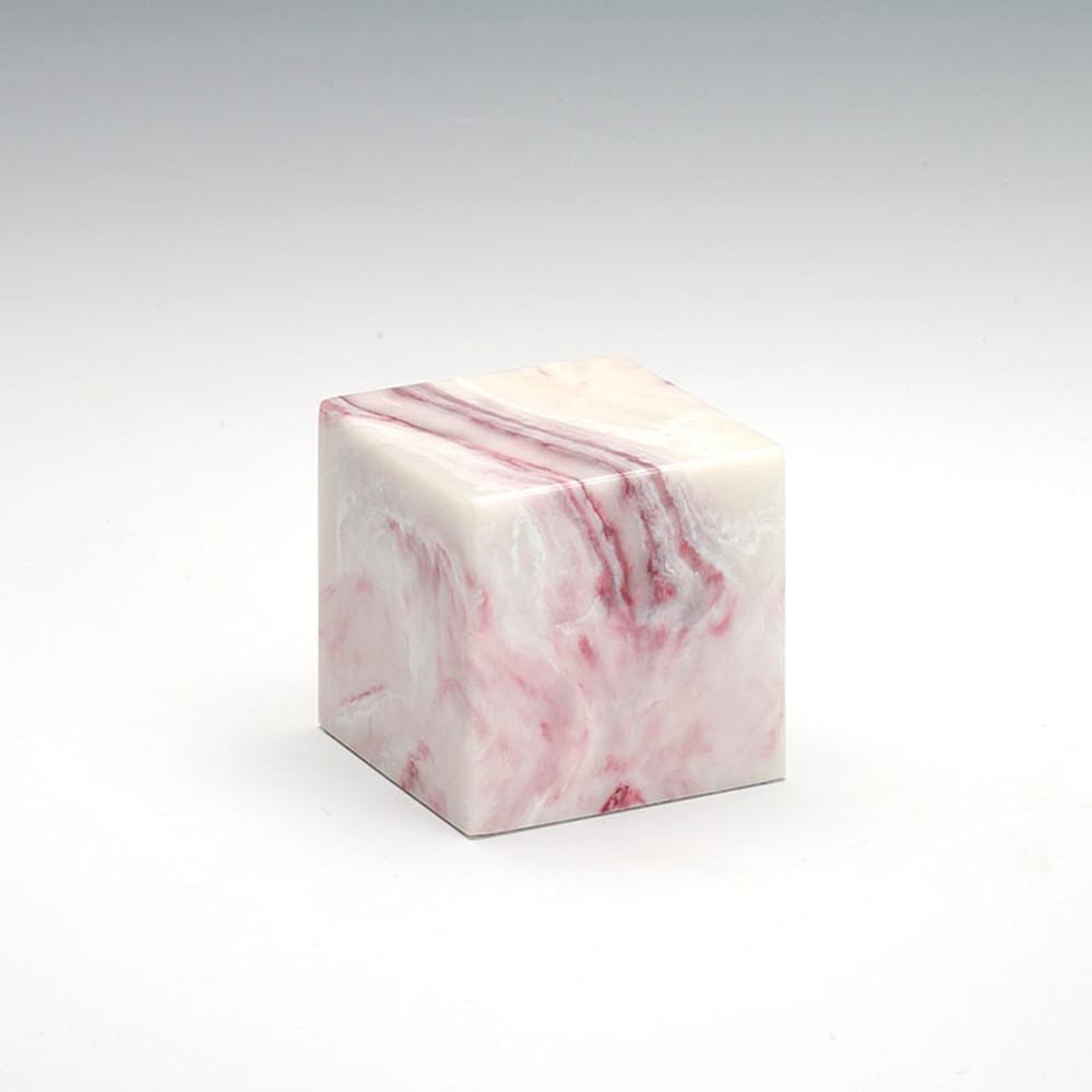 Small Cube Cultured Onyx Urn in Ruby