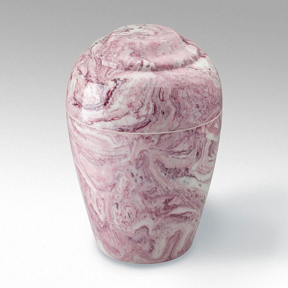 Grecian Cultured Marble Urn in Wild Rose