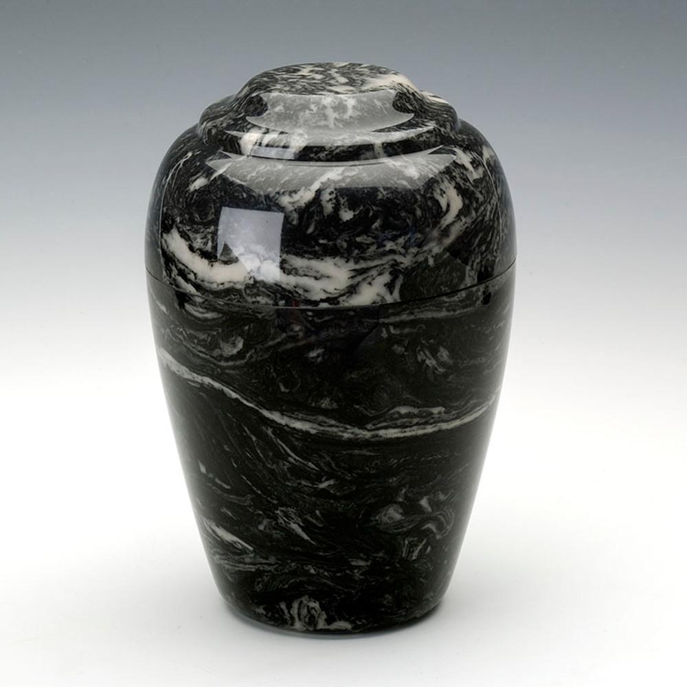 Grecian Cultured Marble Urn in Ebony