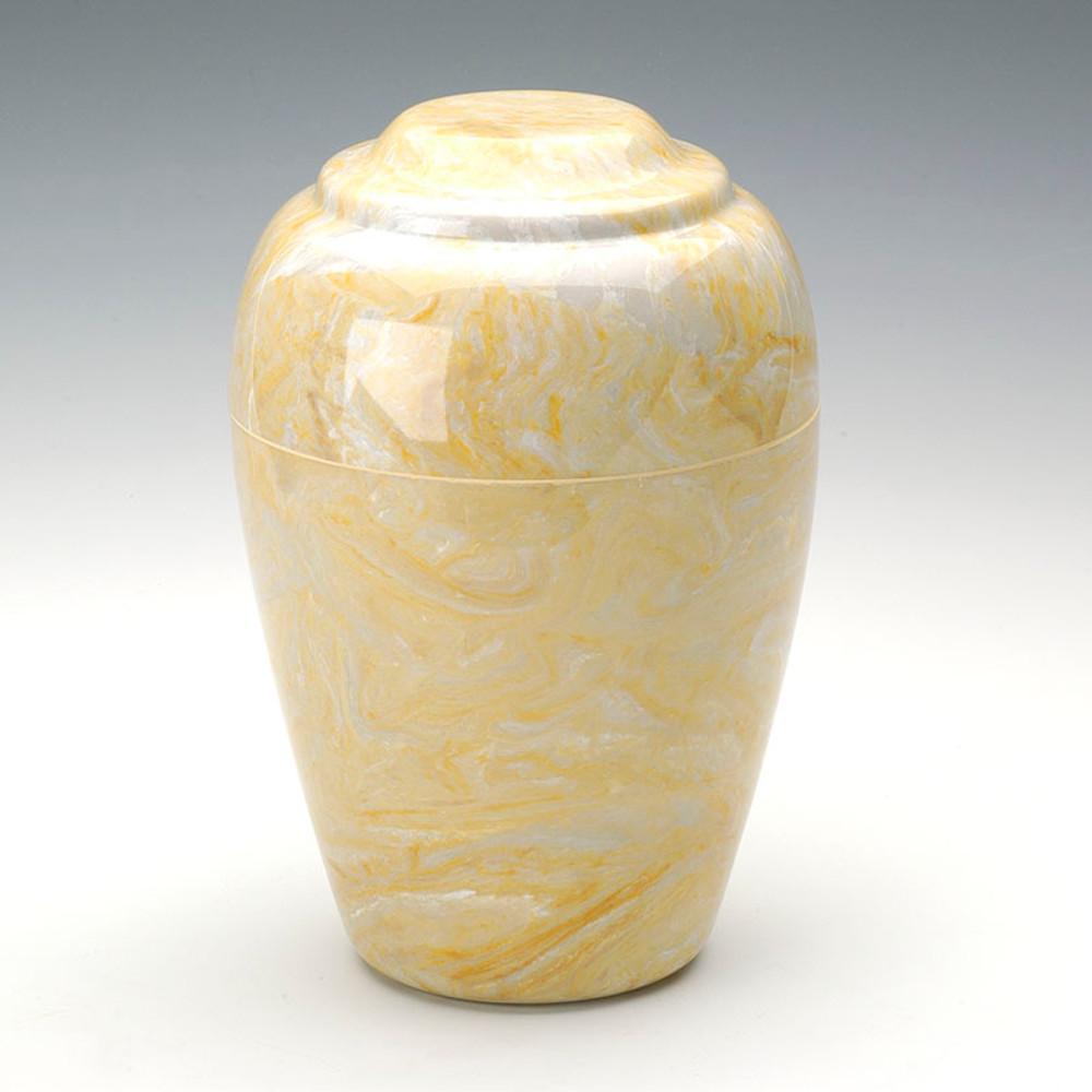 Grecian Cultured Marble Urn in Gold