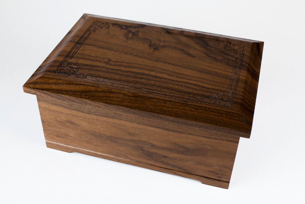 Renaissance Solid Wood Cremation Urn (Made in USA)