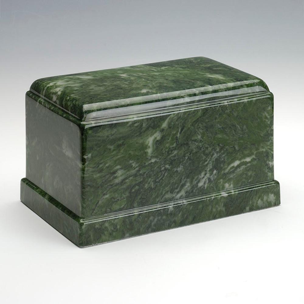 Olympus Cultured Marble Urn in Emerald