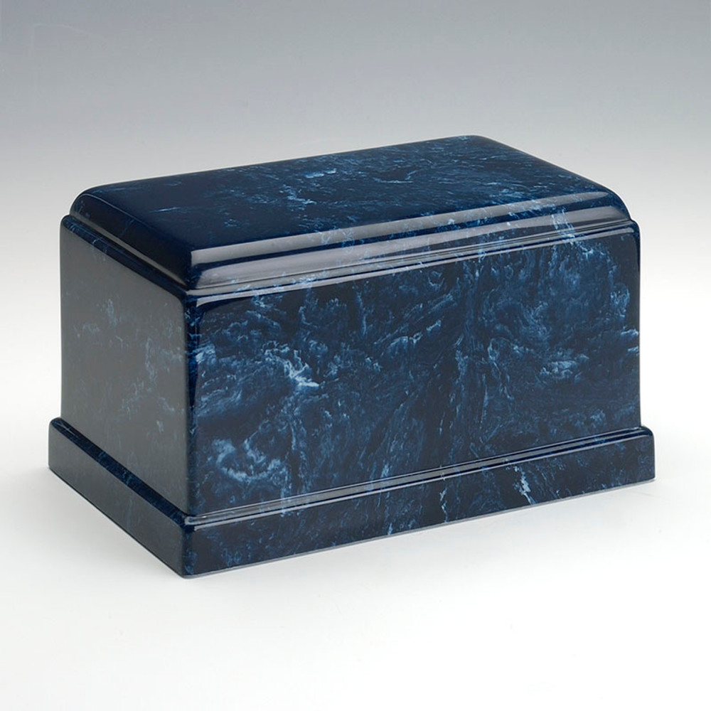 Olympus Cultured Marble Urn in Navy