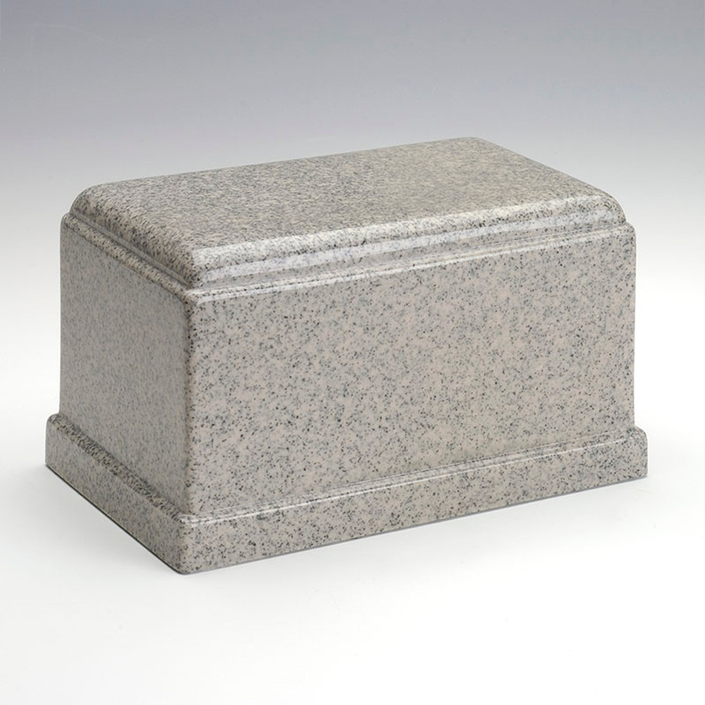 Olympus Cultured Granite Urn in Mist Gray