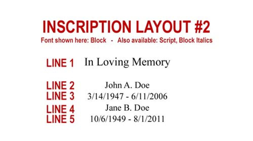 Inscription Layout 2